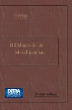 Hilfsbuch für den Maschinenbau
