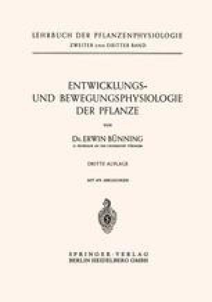 Entwicklungs- und Bewegungsphysiologie der Pflanze