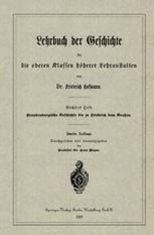 Brandenburgische Geschichte bis zu Friedrich dem Großen