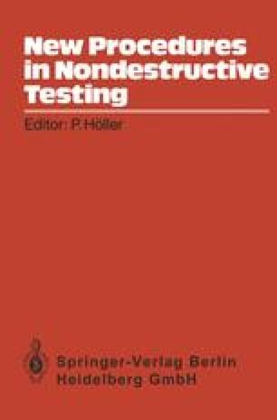 New Procedures in Nondestructive Testing