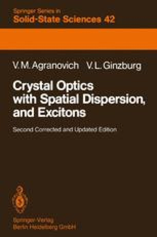 Crystal Optics with Spatial Dispersion, and Excitons