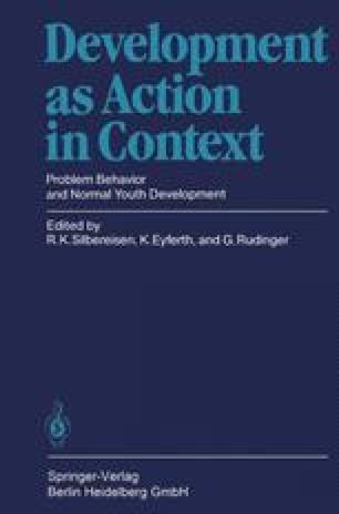 Social Behavior Problems in Adolescence | SpringerLink