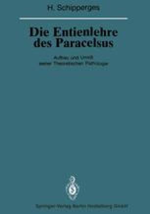 Die Entienlehre des Paracelsus