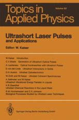 Ultrashort Laser Pulses and Applications