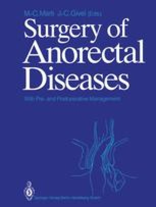 Surgery of Anorectal Diseases