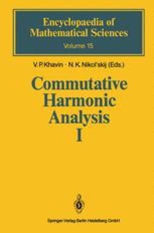 Commutative Harmonic Analysis I