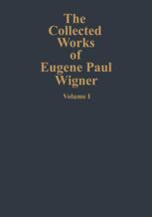 The Collected Works of Eugene Paul Wigner