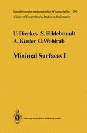 Minimal Surfaces I