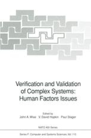 Verification and Validation of Complex Systems: Human Factors Issues