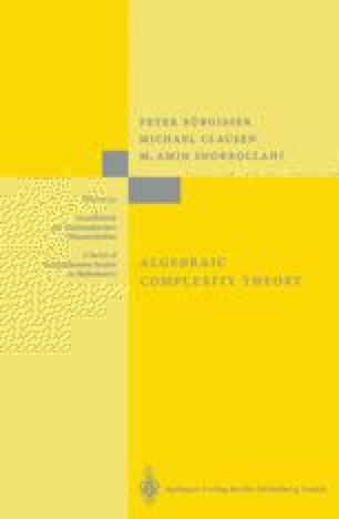 Algebraic Complexity Theory
