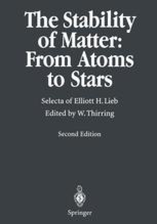 The Stability of Matter: From Atoms to Stars