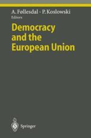 Democracy and the European Union