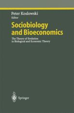 Sociobiology and Bioeconomics