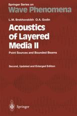 Acoustics of Layered Media II