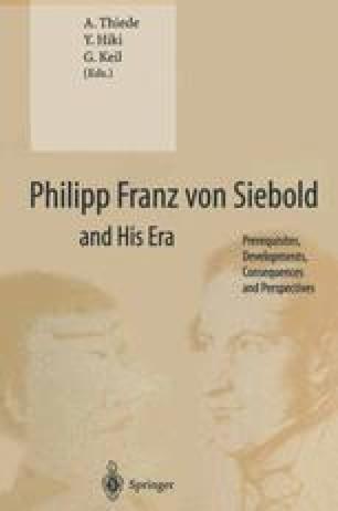 Philipp Franz von Siebold and His Era
