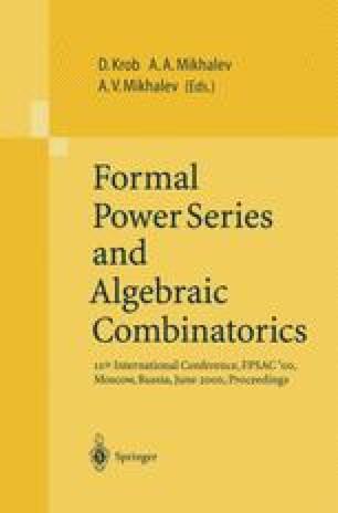 Formal Power Series and Algebraic Combinatorics