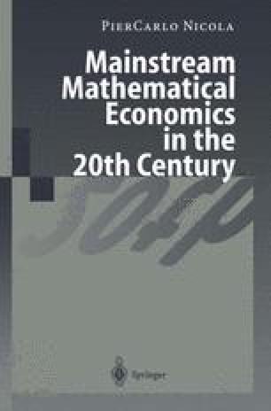 Mainstream Mathematical Economics in the 20th Century