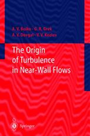 The Origin of Turbulence in Near-Wall Flows