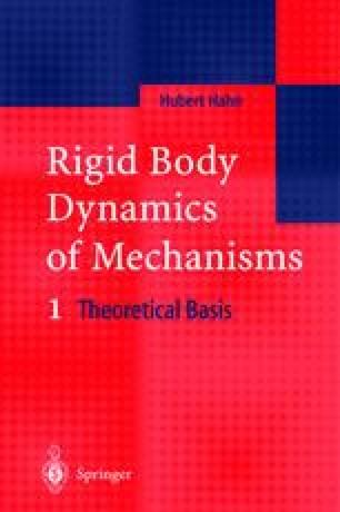 Rigid Body Dynamics of Mechanisms