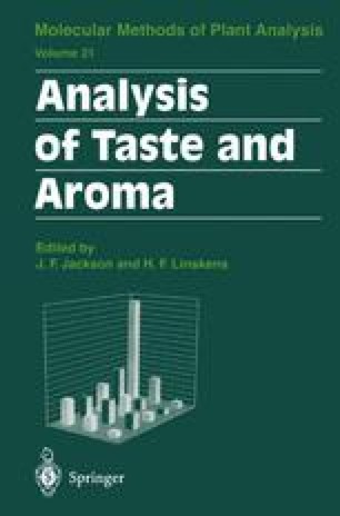 Analysis of Taste and Aroma