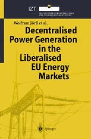 Decentralised Power Generation in the Liberalised EU Energy Markets