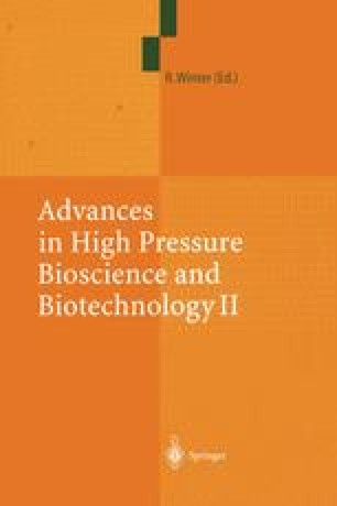 Advances in High Pressure Bioscience and Biotechnology II