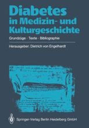 Diabetes in Medizin- und Kulturgeschichte