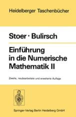Einführung in die Numerische Mathematik II