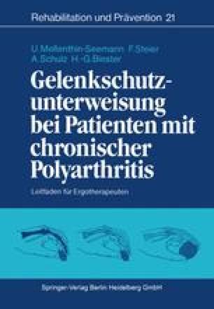 Gelenkschutzunterweisung bei Patienten mit chronischer Polyarthritis