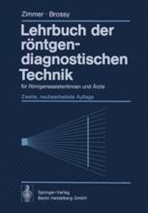 Lehrbuch der röntgendiagnostischen Technik