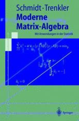 Moderne Matrix-Algebra