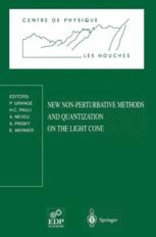 New Non-Perturbative Methods and Quantization on the Light Cone
