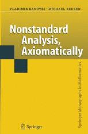 Nonstandard Analysis, Axiomatically