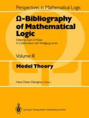Ω-Bibliography of Mathematical Logic