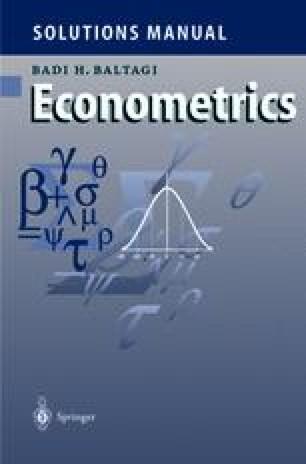 Solutions Manual for Econometrics