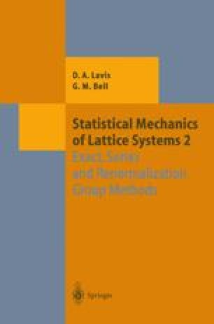 Statistical Mechanics of Lattice Systems