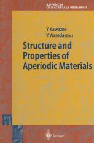 Structure and Properties of Aperiodic Materials