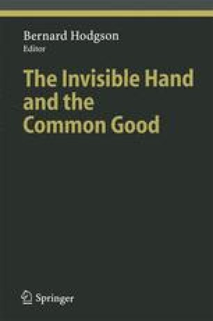 The Invisible Hand and the Common Good