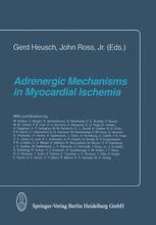 Adrenergic Mechanisms in Myocardial Ischemia