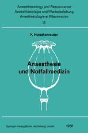 Anaesthesie und Notfallmedizin