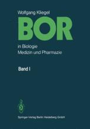 BOR in Biologie, Medizin und Pharmazie