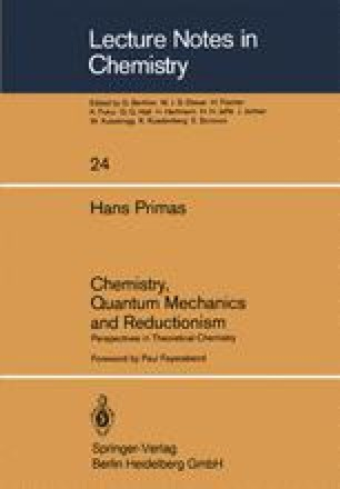 Chemistry, Quantum Mechanics and Reductionism