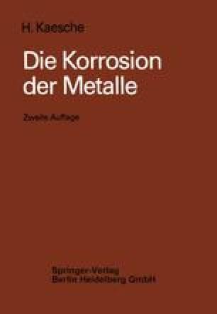 Die Korrosion der Metalle