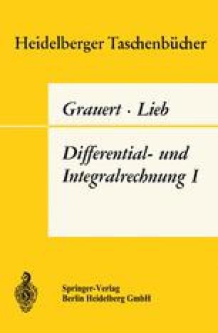 Differential- und Integralrechnung I
