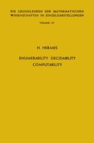 Enumerability · Decidability Computability