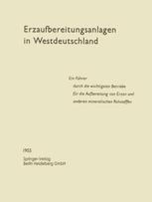 Erzaufbereitungsanlagen in Westdeutschland