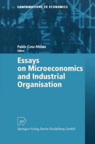 Essays on Microeconomics and Industrial Organisation