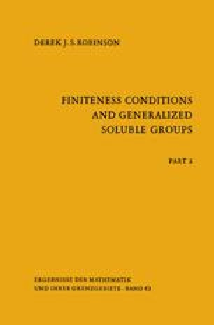 Part 2: Finiteness Conditions and Generalized Soluble Groups