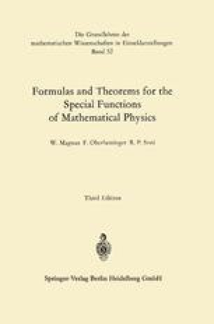Formulas and Theorems for the Special Functions of Mathematical Physics