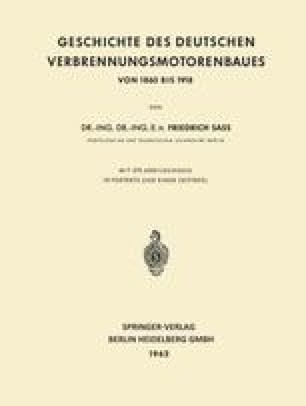 Geschichte des Deutschen Verbrennungsmotorenbaues